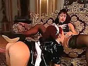Horny mature mistress seduces maid