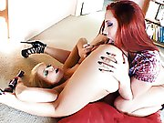 horny lesbian babes ram two speculums in their ass and love-cage