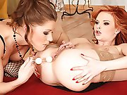 Redhead and brunette take part in raw in this lesbian doing scene