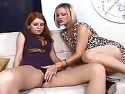 Perfect titty lesbians going horny