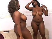 Horny black lesbians lick sweet pussies